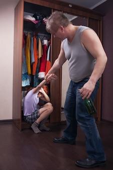 Семейный скандал из-за алкоголя
