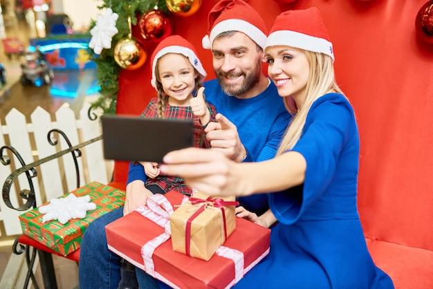 크리스마스 선물로 가족 복용 selfie