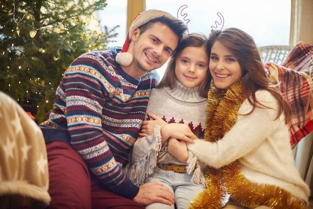 クリスマス休暇中の家族の時間