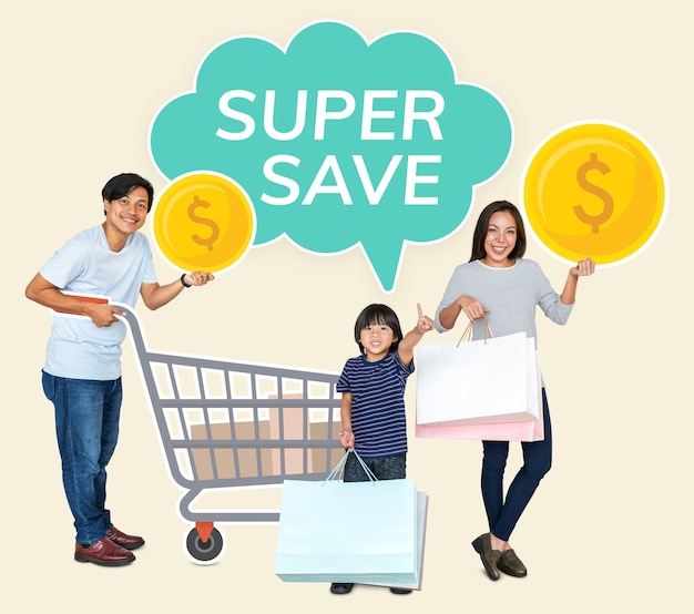 Family with a super saver deal