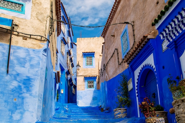 The famous blue city of chefchaouen.
