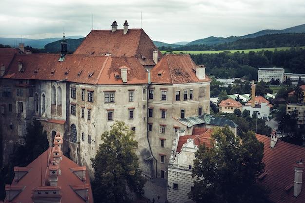 チェスキー・クルムロフの有名な城。南ボヘミア、チェコ共和国