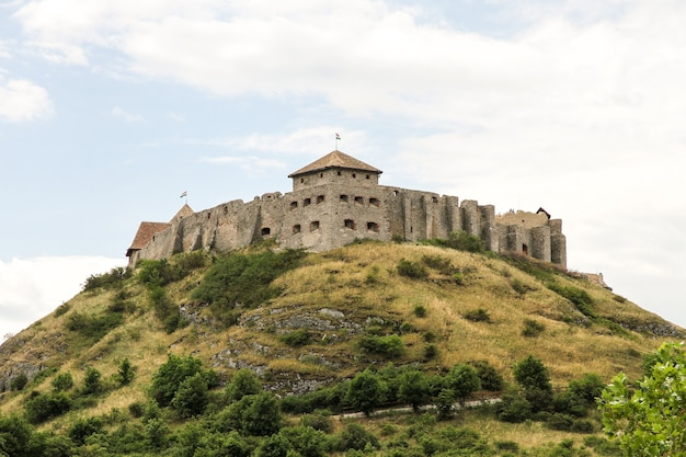 The famous castle sumeg in hungary
