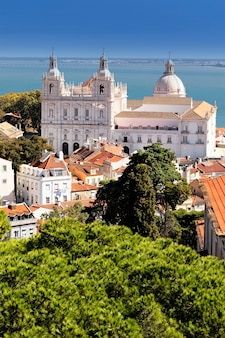 Famous church of st. vicent in lisbon, portugal