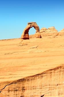 Знаменитая нежная арка, юта, соединенные штаты америки