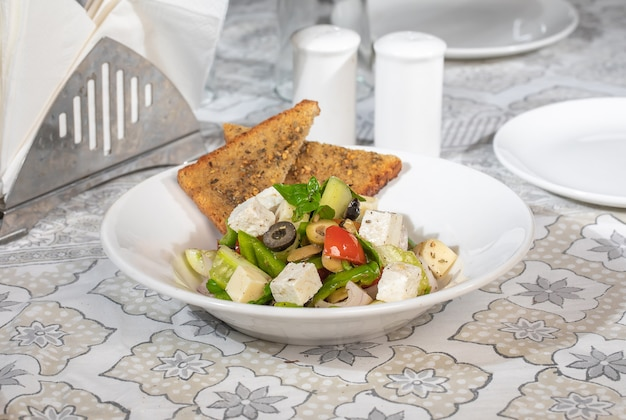 Famous and fresh indian paneer salad