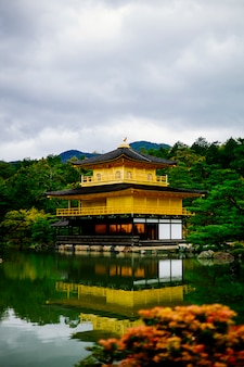 Famous gold temple kyoto japan