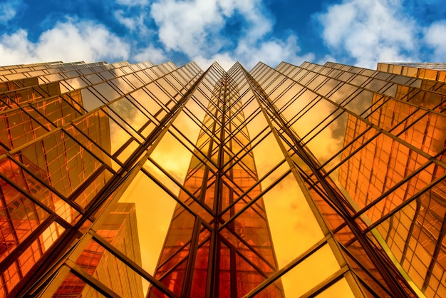 Famous golden building facade of china hong kong city mall at tsim sha tsui, hong kong.