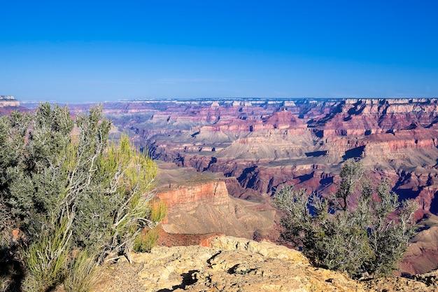 有名なグランドキャニオンビュー、アリゾナ、米国