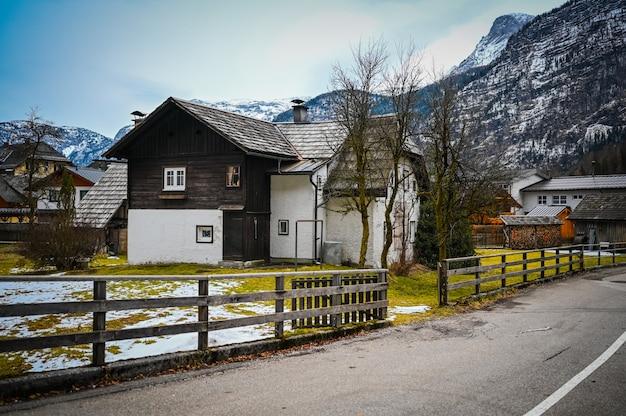 Famous hallstatt mountain village