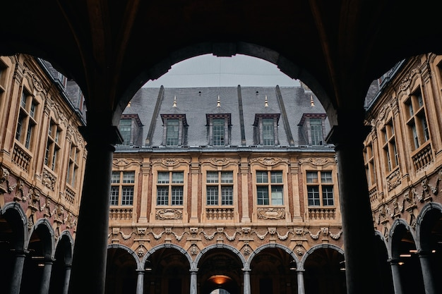 Famous historic vieille bourse in lille in france