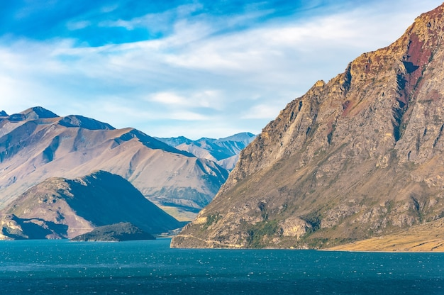 Famous lake hawea in wanaka