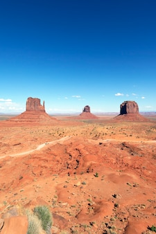 Famous landscape of monument valley, usa