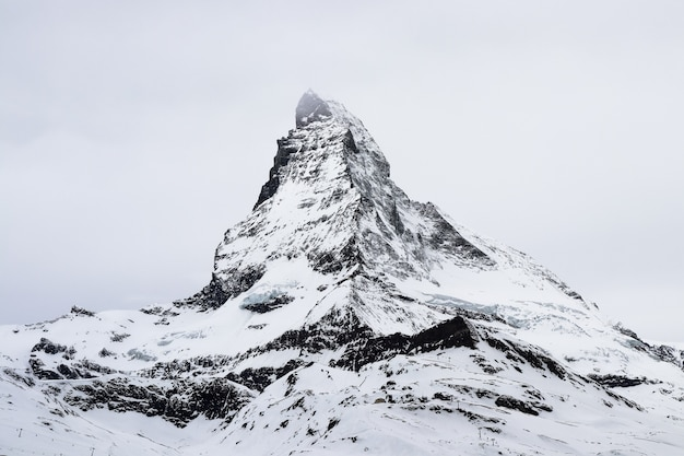 The famous matterhorn in zermatt, switzerland
