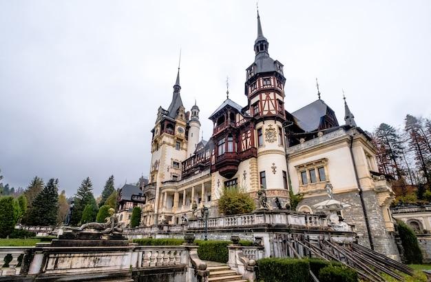 Famous peles castle in romania