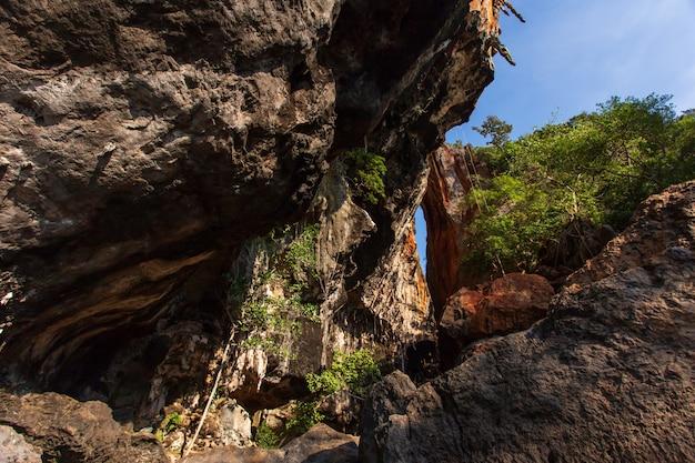 Famous phranang cave at raylay railay beach krabi thailand