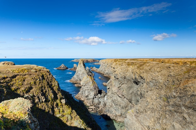 The famous places of the island belle ile en mer