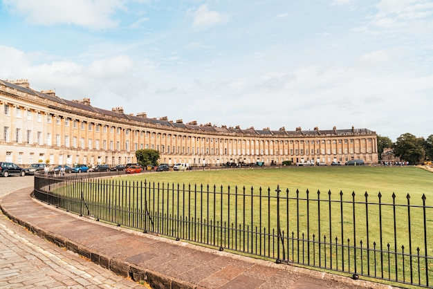 The famous royal crescent at bath somerset england, united kingdom.