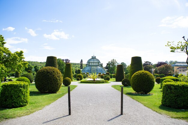 The famous schãƒâ¶nbrunn park. vienna, austria. travels.