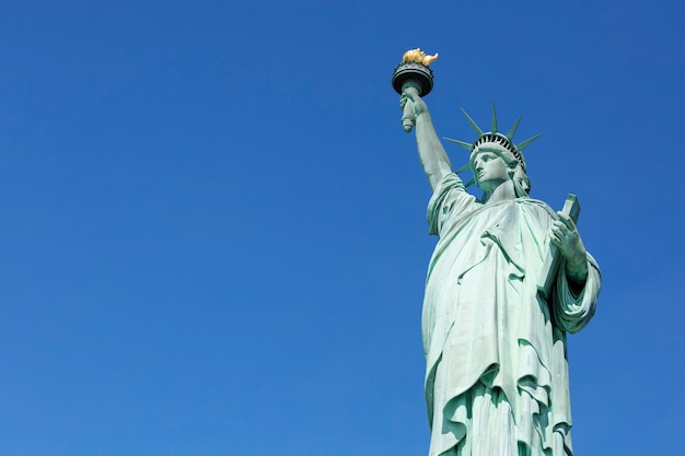 Famous statue of liberty, new york.