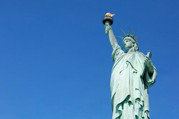 Famosa statua della libertà, new york.