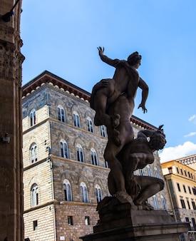 Famous statue in signoria square (piazza della signoria), florence