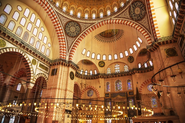 The famous suleymaniye mosque.