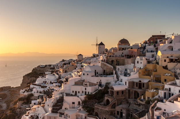 Famous sunset in oia