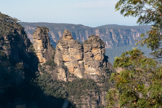 Famous three sisters rock from around echo point formation