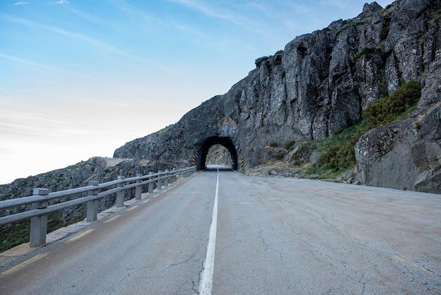 Famous tunnel of serra da estrela in portugal
