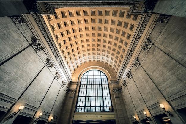 有名なユニオン駅、シカゴ、アメリカ