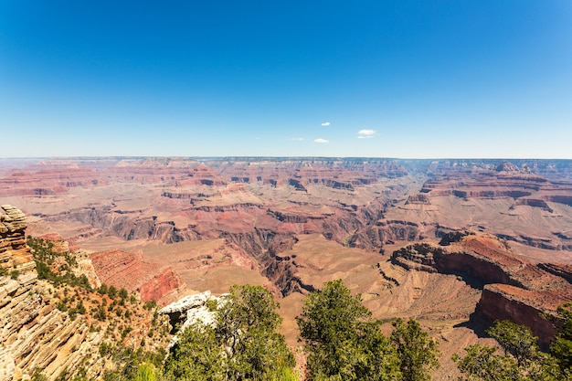 Famous view grand canyon national park landscape