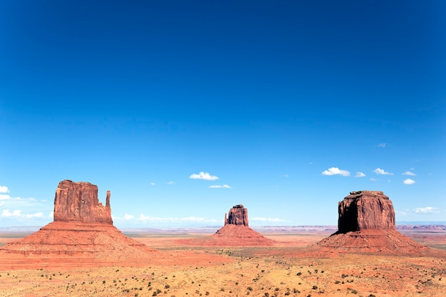 Famous view of monument valley, utah, usa.