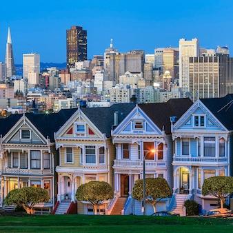 アメリカ、サンフランシスコの有名な景色