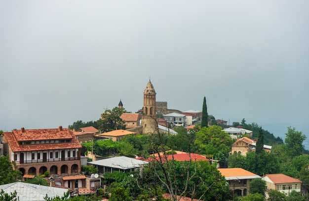 Famous view of the old town of sighnaghi