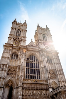 Famous westminster abbey collegiate church in london, england