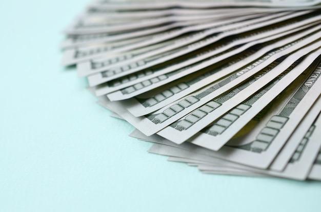 Fan of a us dollar bills
