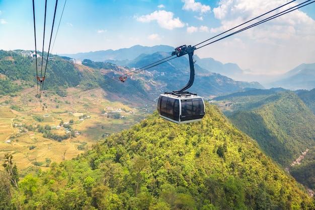 Fancipan cable car in sapa in lao cai in vietnam