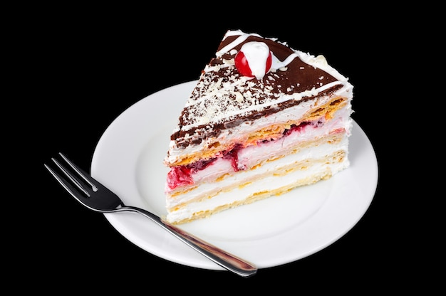 Fancy cake with cherry on top
