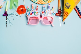 Fancy glasses and birthday stuff