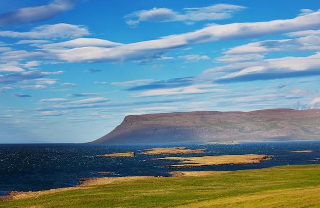 幻想的なセランド火山の風景