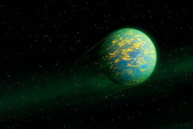 Фантастическая экзопланета фиолетового цвета. элементы этого изображения были предоставлены наса. для любых целей.