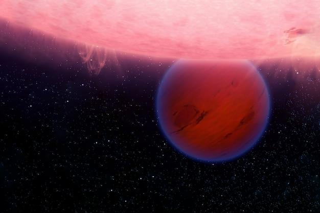 幻想的な熱い惑星。この画像の要素はnasaによって提供されました。高品質の写真