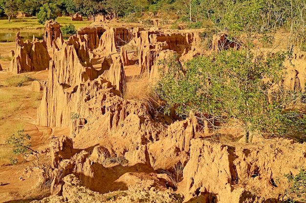 태국 sa kaeo 지방의 자연 현상인 lalu 또는 thailand canyon의 환상적인 풍경