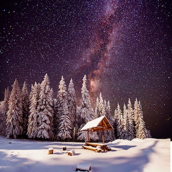 Fantastic milky way in the