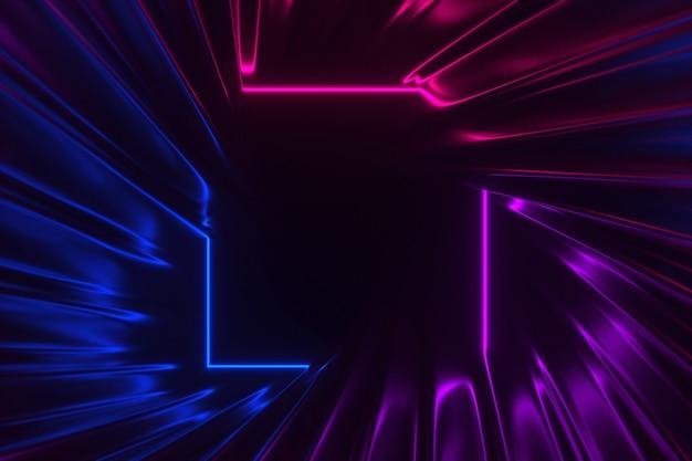 Fantastic neon lights background