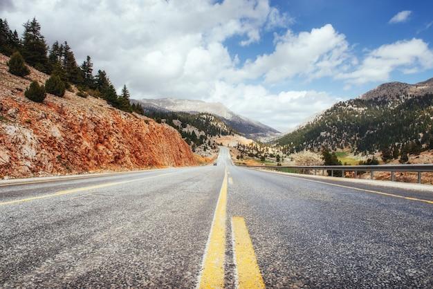 Fantastic road in the mountains. carpathians. ukraine