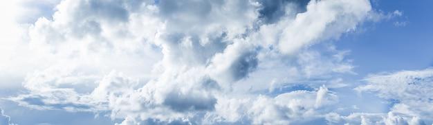 Fantastic soft white cloud against blue sky