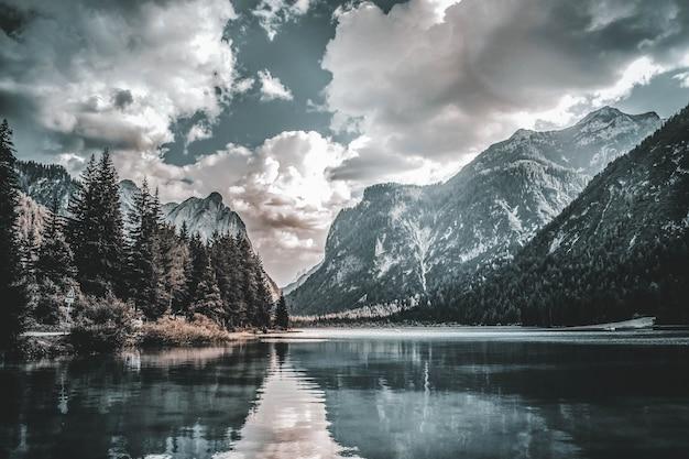Fantastic view on lake braies