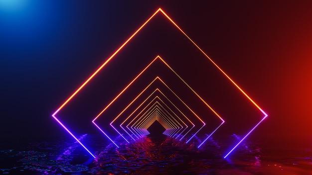 Фэнтези вселенная и космический коридор, 3d визуализация